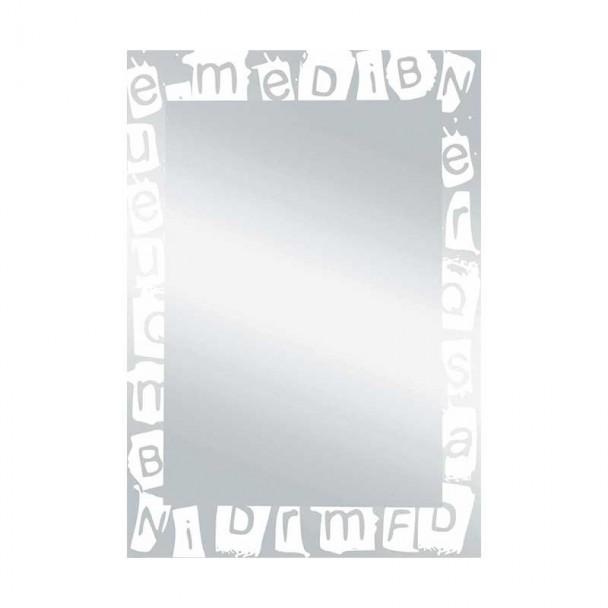 Espelho de casa de Banho Lua Letras Branco 55x75 cm
