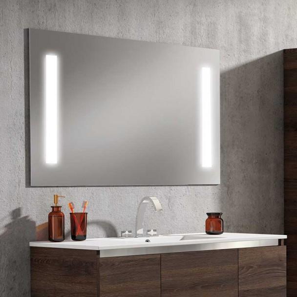 Espelho diodo Emissor de luz Fashion para casa de Banho