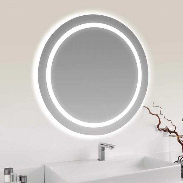 Espelho diodo Emissor de luz Terra 65 cm para casa de Banho