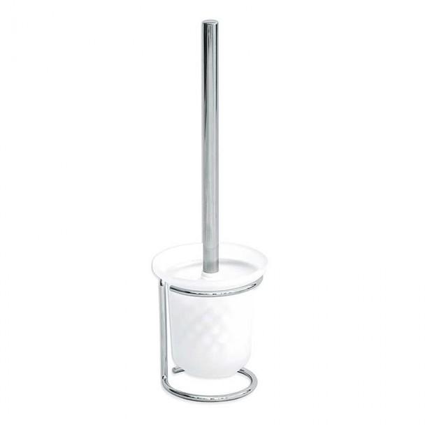 Escobillero Base ao Chão e Copo de Vidro Básico